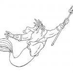 Triton coloring page