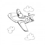 Air plane coloring page