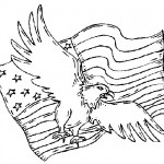 American eagle flag coloring pages