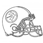 American football helmet coloring page