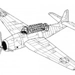 Avenger plane coloring page