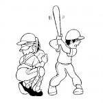 Baseball coloring page