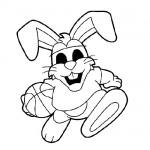 Basketball bunny coloring page