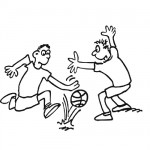 Basketball game coloring page
