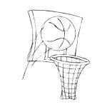 Basketball hoop coloring page