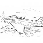 Battle plane coloring page