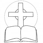Bible cross coloring pages