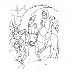 Bible scene coloring page