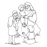 Bible scene coloring pages