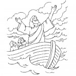 Bible story coloring page