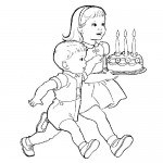 Birthday coloring pages for kids