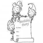 Birthday invitations coloring page