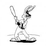 Bugs bunny baseball coloring pages