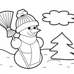 Christmas Snowman coloring page