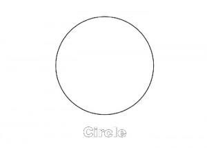 Circle shape coloring page