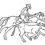 Cowboy coloring sheet