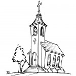 Cristian church coloring page