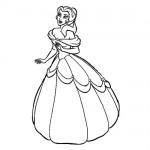 Disney princess coloring page