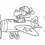 Dog pilot coloring page