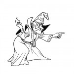 Evil wizard coloring page