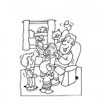 Families coloring page