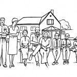 Families coloring pages