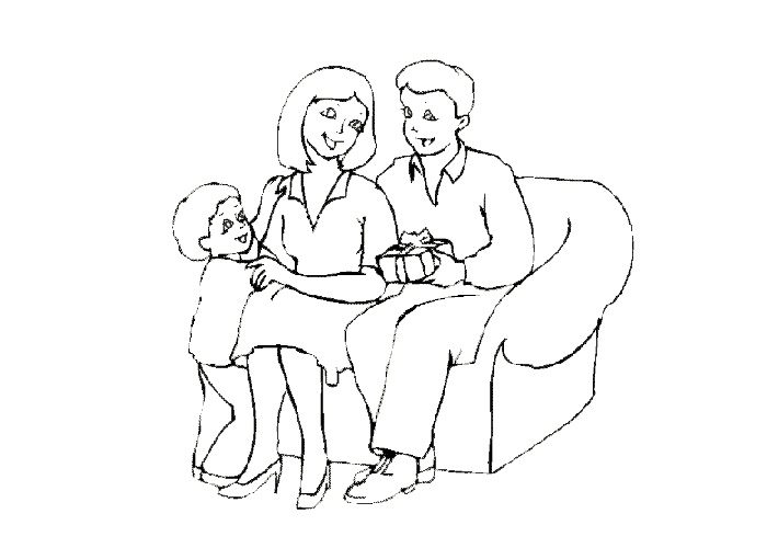 Families coloring pages - Coloring pages