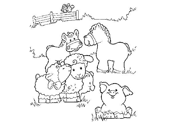 Adorable animals to color. | Barnyard Bash | Pinterest