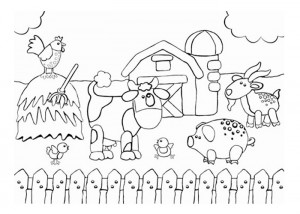 Farm coloring sheet