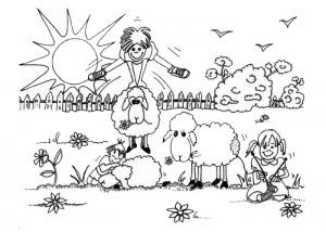 Farm yard coloring page