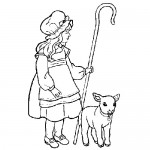 Farmer girl coloring page