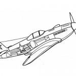 Fighter plane coloring page
