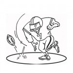 Football field player coloring pages