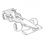 Formula one car coloring page