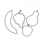 Fruit pattern coloring pages