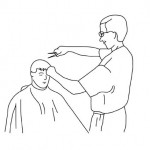 Hairdresser coloring pages