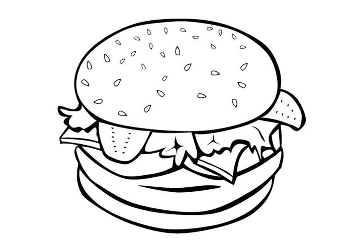Food coloring pages - Coloring pages