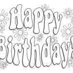 Happy b-day coloring page