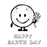 Happy birthday Earth coloring page