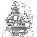Hounting house coloring page
