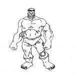 Incredible Hulk coloring page
