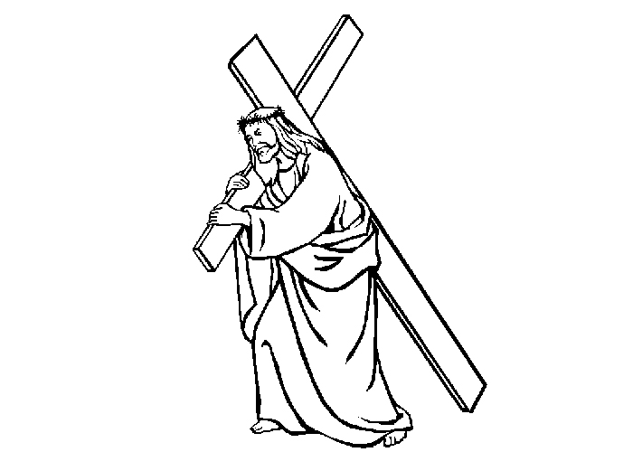 Jesus And Cross Coloring Pages Coloring Pages