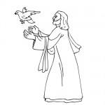 Jesus dove coloring page