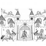 King Arthur castle coloring page