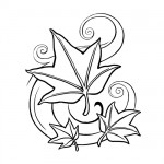 Leaves coloring sheet