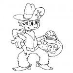 Little cowboy coloring page