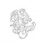 Mermaid coloring sheet