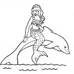 Mermaid coloring sheets