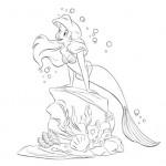 Mermaids coloring page