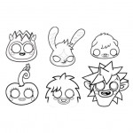 Monsters coloring sheets